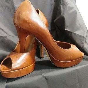 Cole Haan nike air peep toe pumps size 8B